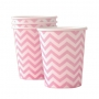 Chevron Pink Cups